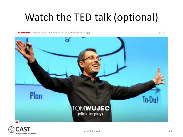 Watch the TED talk (optional)