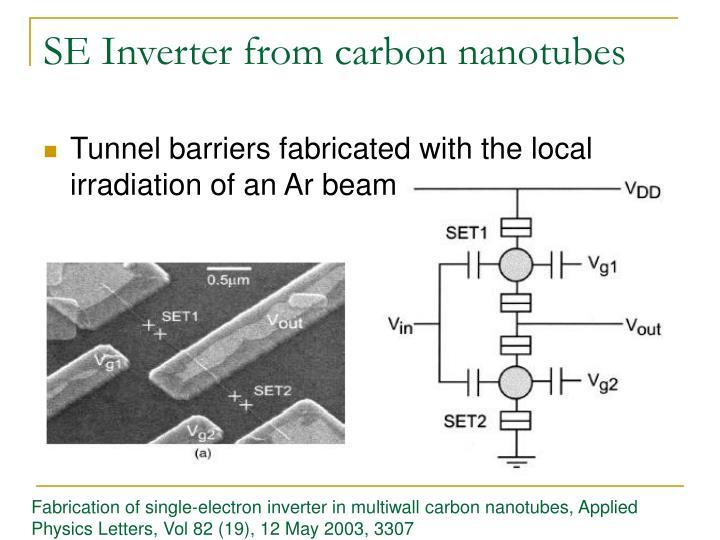 SE Inverter from carbon nanotubes