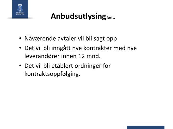 Anbudsutlysing