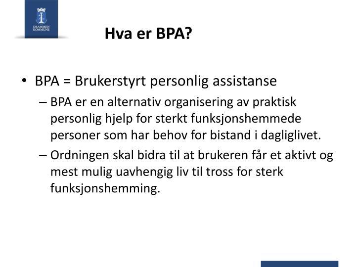 Hva er BPA?