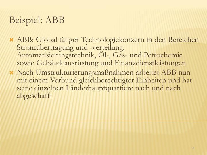 Beispiel: ABB