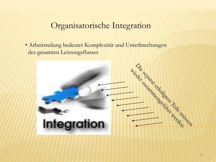 Organisatorische Integration