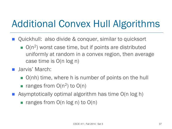 Additional Convex Hull Algorithms