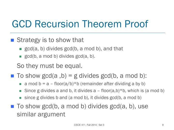 GCD Recursion Theorem Proof