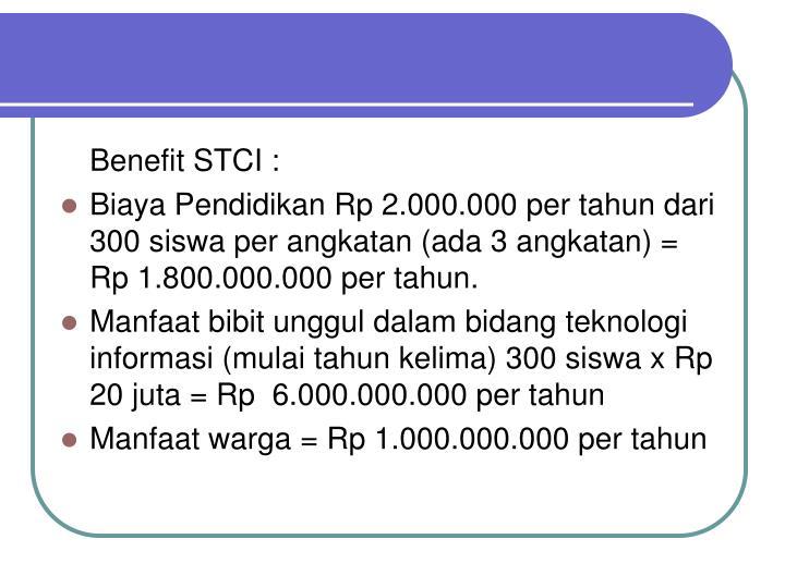 Benefit STCI :