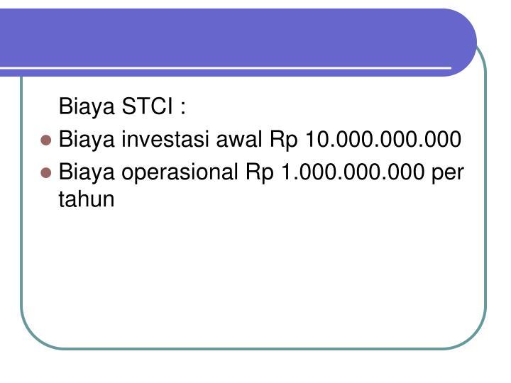 Biaya STCI :