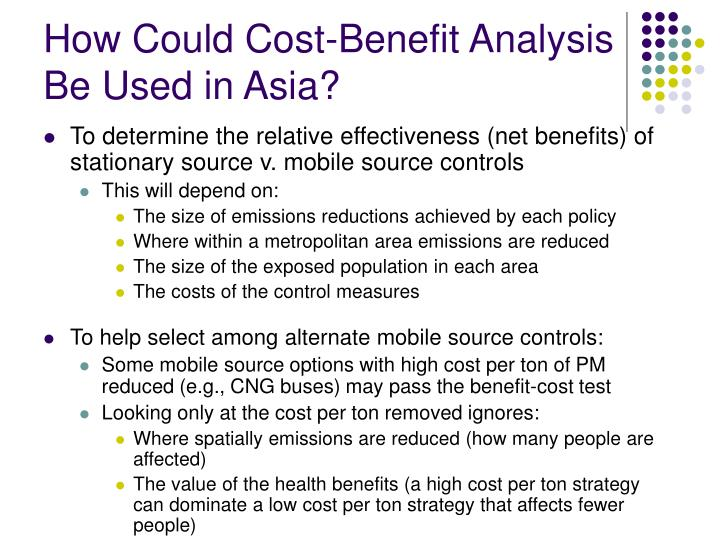 How Could Cost-Benefit Analysis Be Used in Asia?