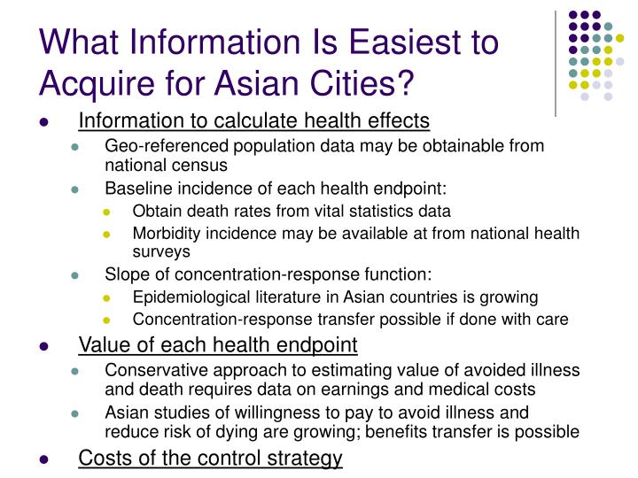 What Information Is Easiest to Acquire for Asian Cities?