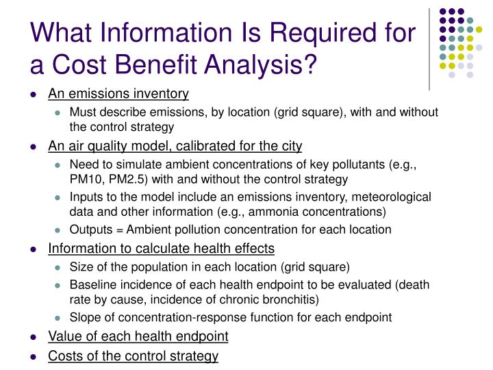 What Information Is Required for a Cost Benefit Analysis?