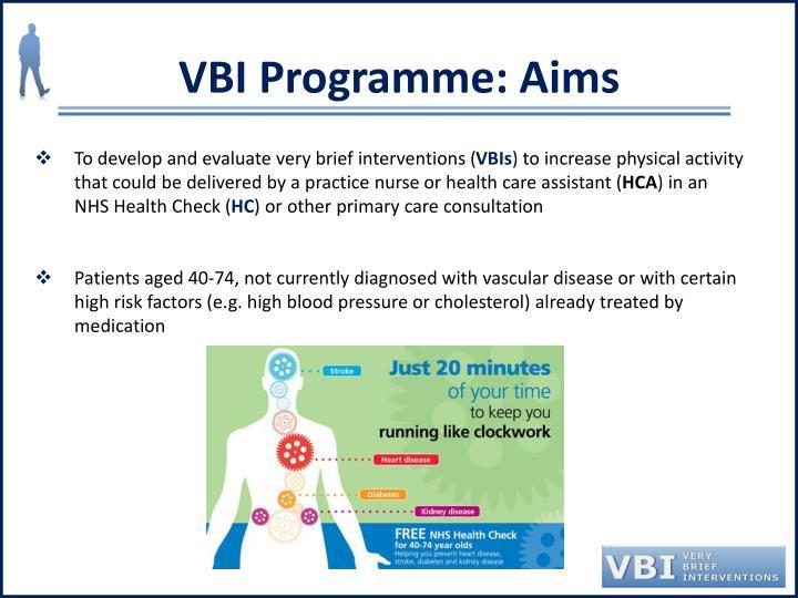 VBI Programme: Aims