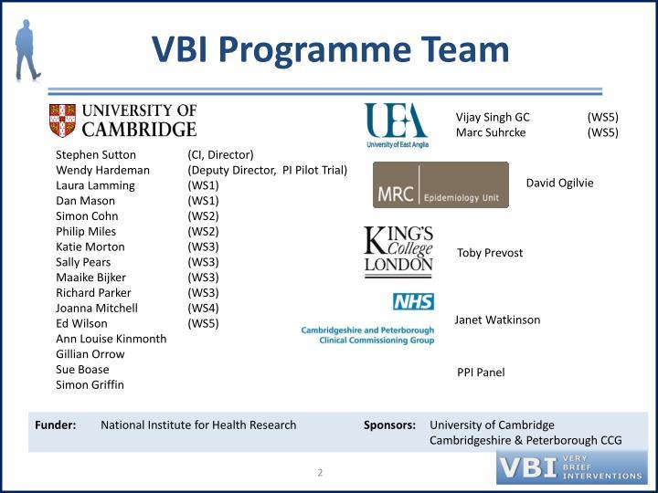 VBI Programme Team