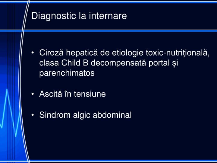 Diagnostic la internare