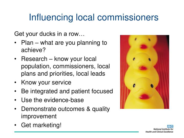 Influencing local commissioners