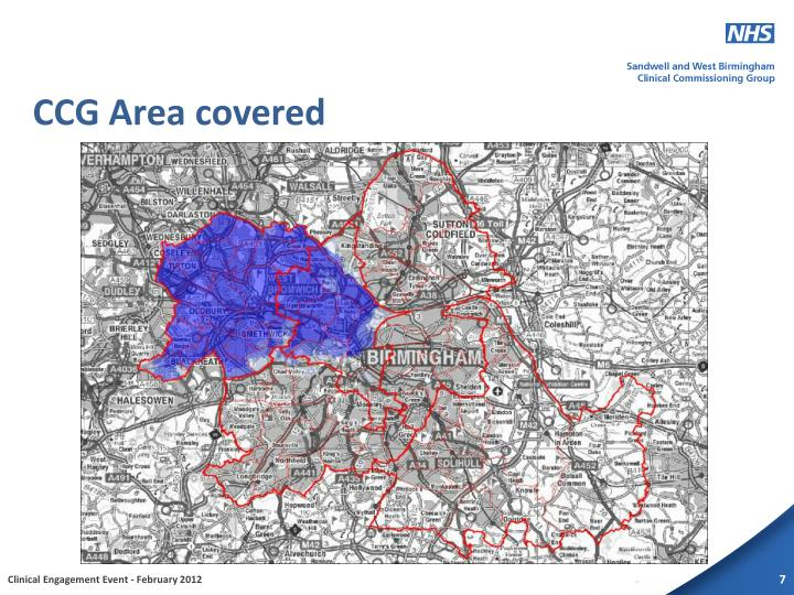 CCG Area covered