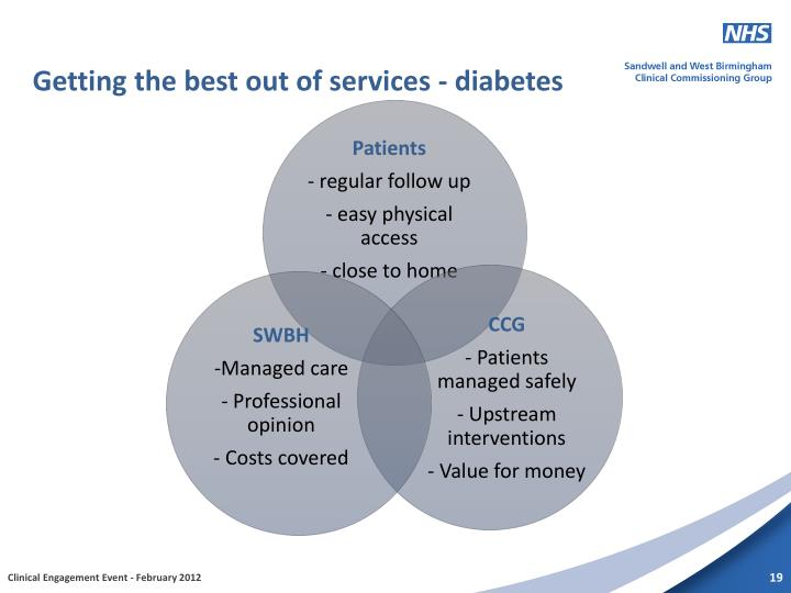 Getting the best out of services - diabetes