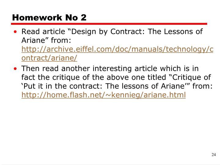 Homework No 2