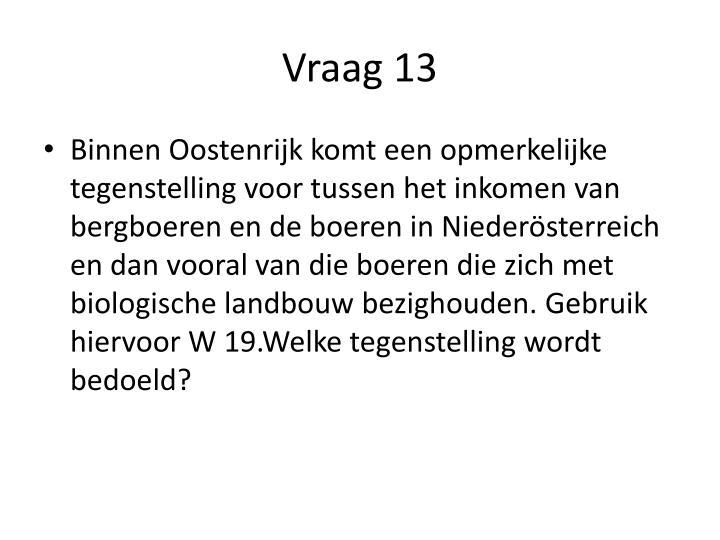 Vraag 13
