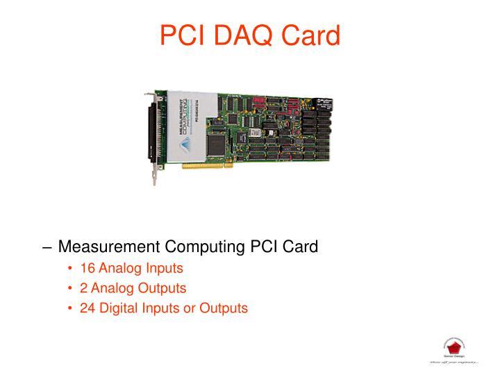 PCI DAQ Card