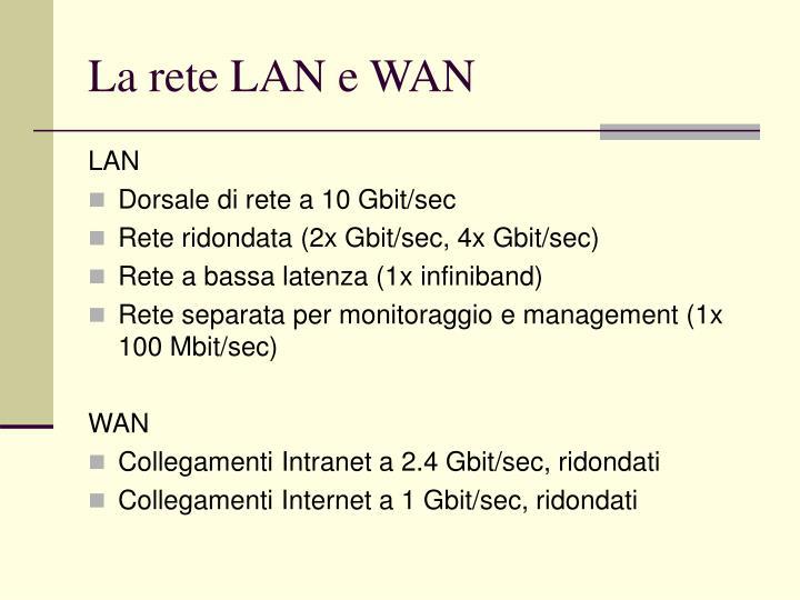 La rete LAN e WAN