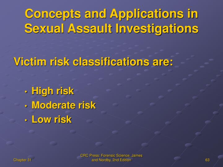 Concepts and Applications in Sexual Assault Investigations