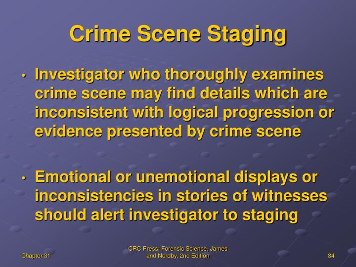 Crime Scene Staging