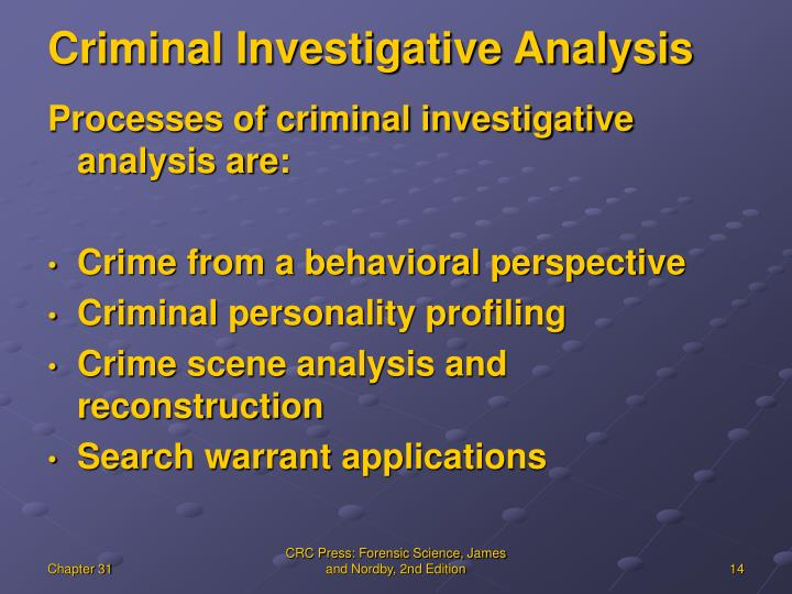 Criminal Investigative Analysis