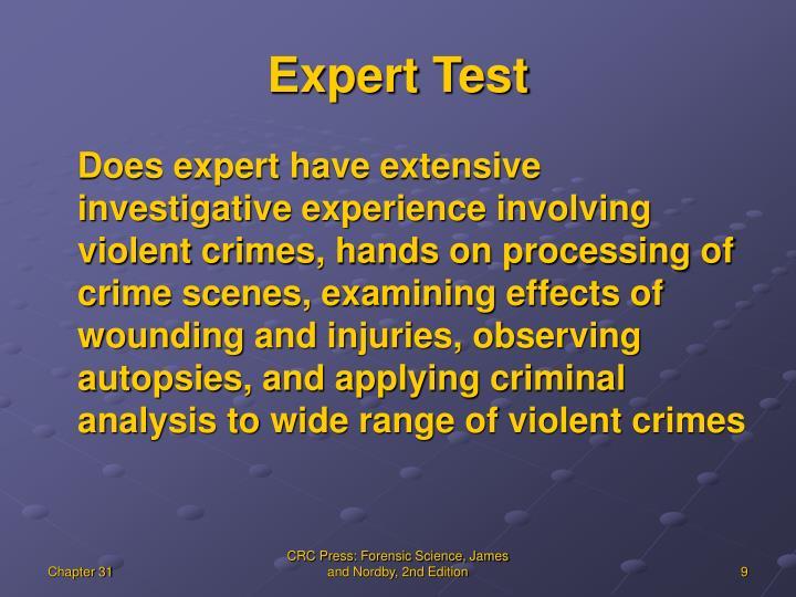 Expert Test