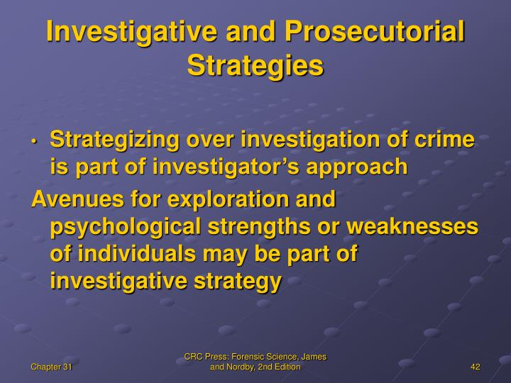 Investigative and Prosecutorial Strategies