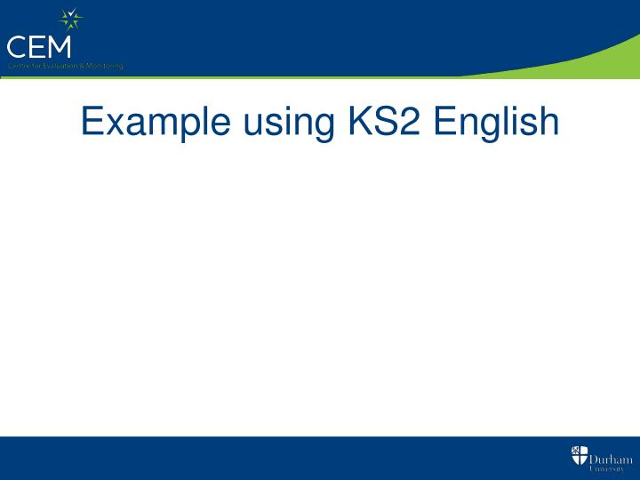 Example using KS2 English