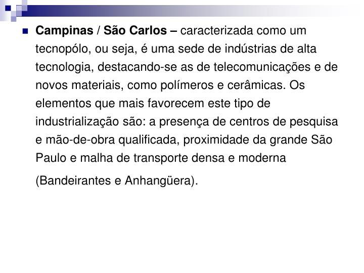 Campinas / São Carlos –