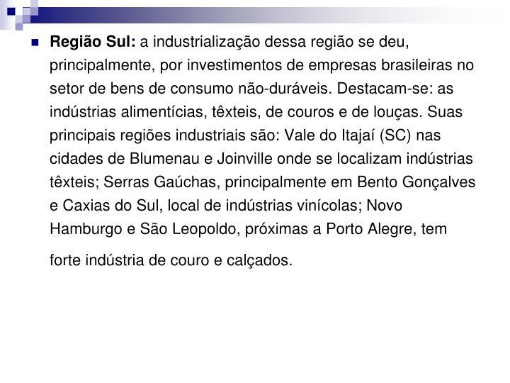 Região Sul: