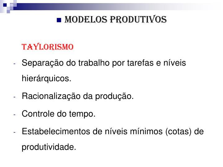Modelos produtivos