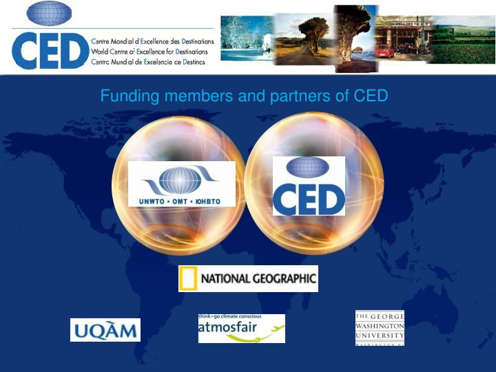 Funding members and partners of CED