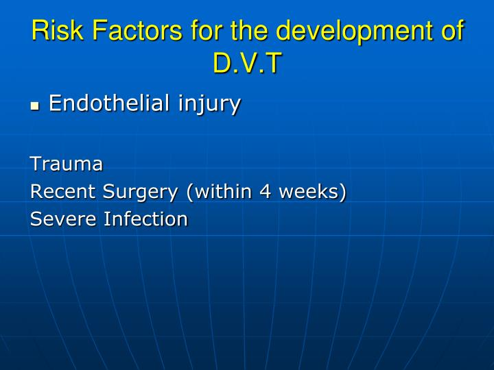 Risk Factors for the development of