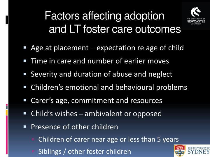 Factors affecting adoption