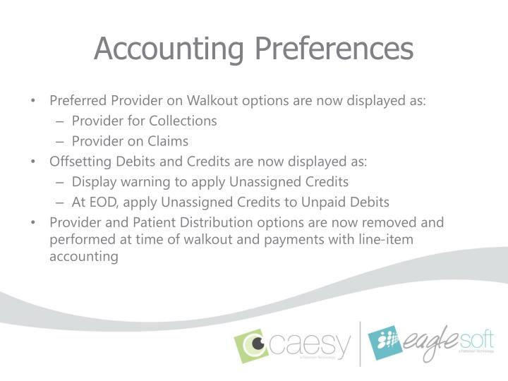 Accounting Preferences