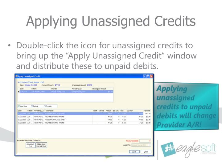 Applying Unassigned Credits