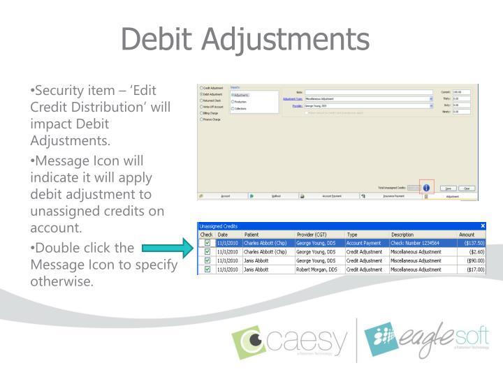 Debit Adjustments