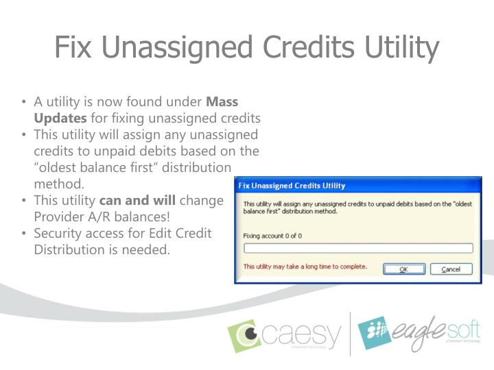 Fix Unassigned Credits Utility