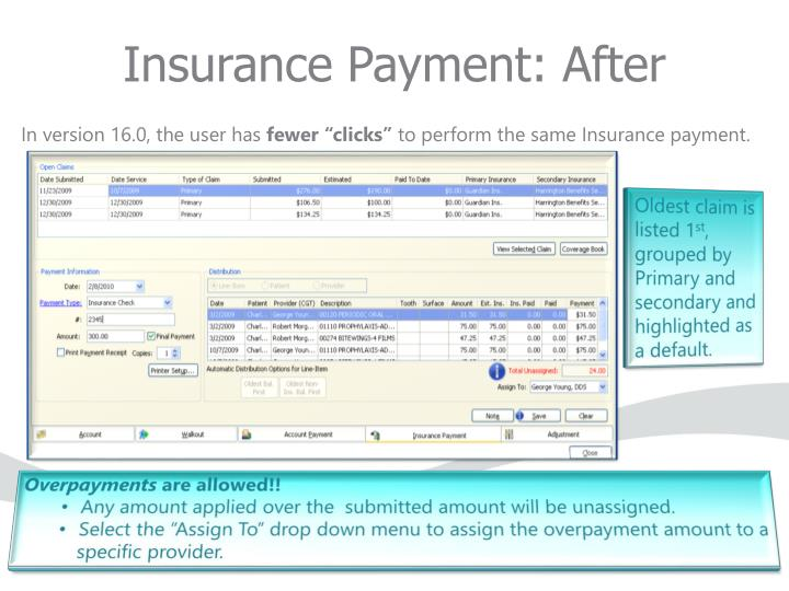 Insurance Payment: After