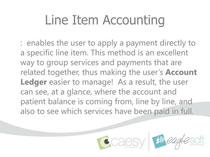 Line item accounting1