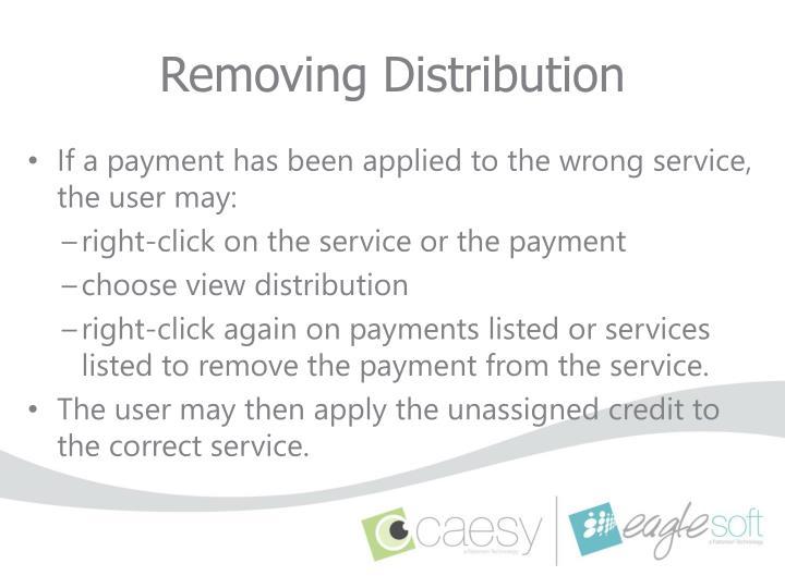 Removing Distribution