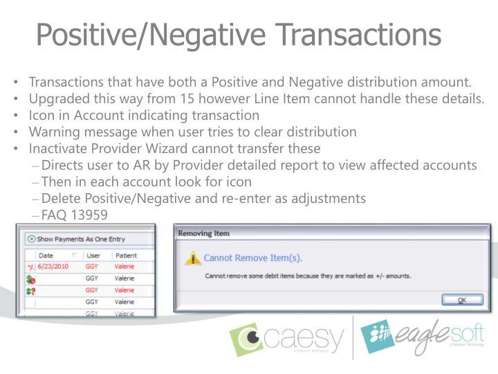 Positive/Negative Transactions