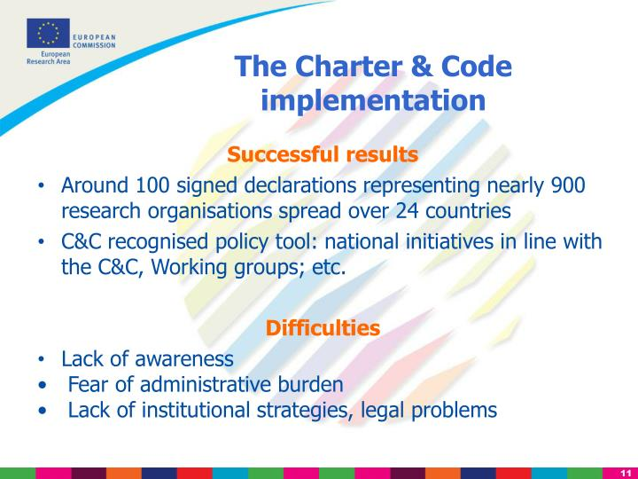 The Charter & Code implementation