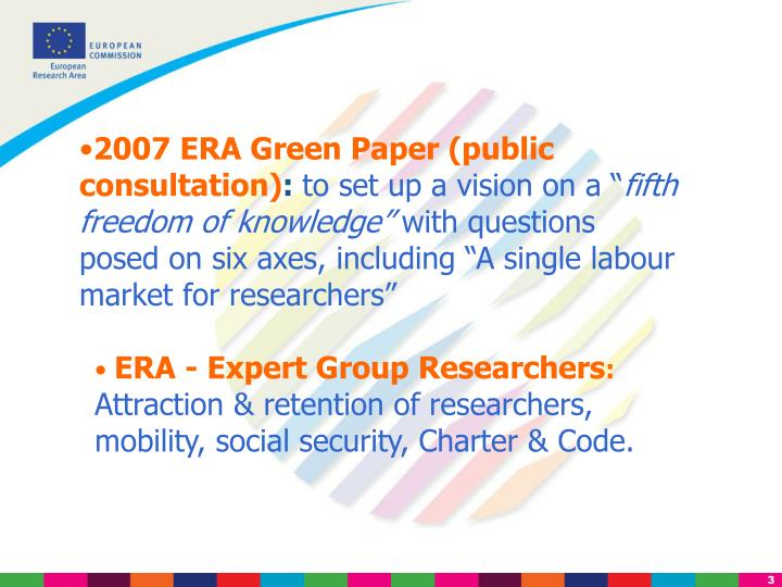 2007 ERA Green Paper (public consultation)