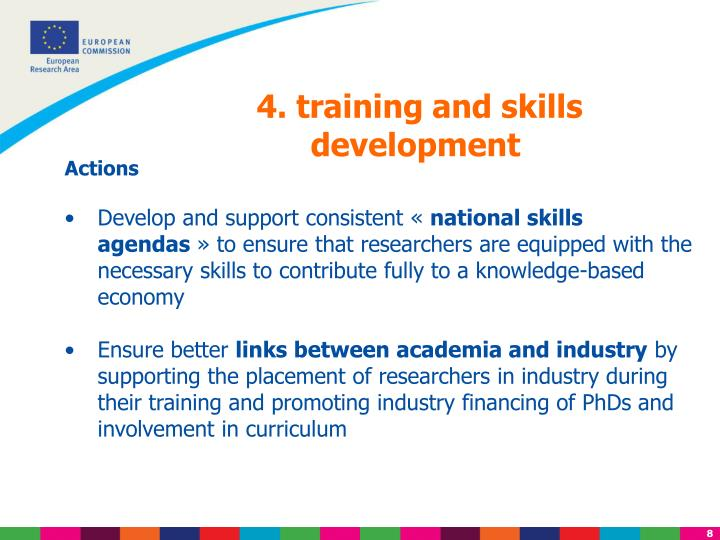4. training and skills development