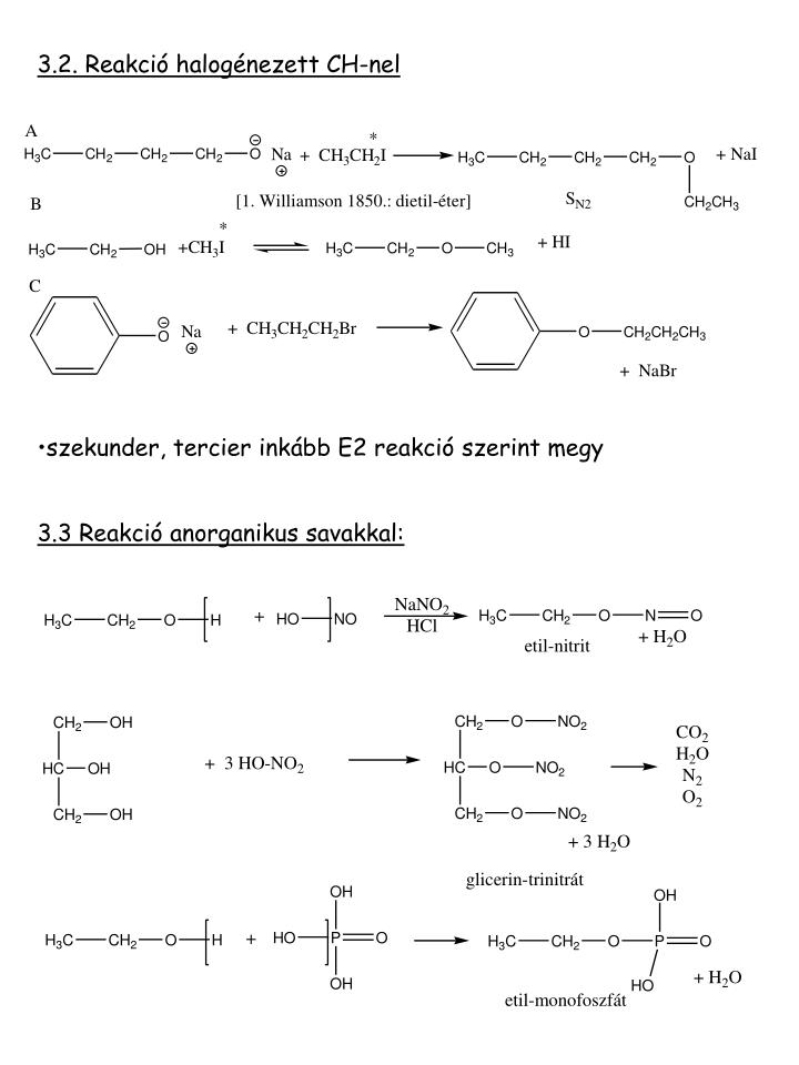 3.2. Reakció halogénezett CH-nel