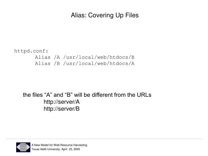 Alias: Covering Up Files