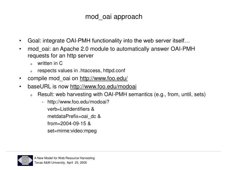 mod_oai approach