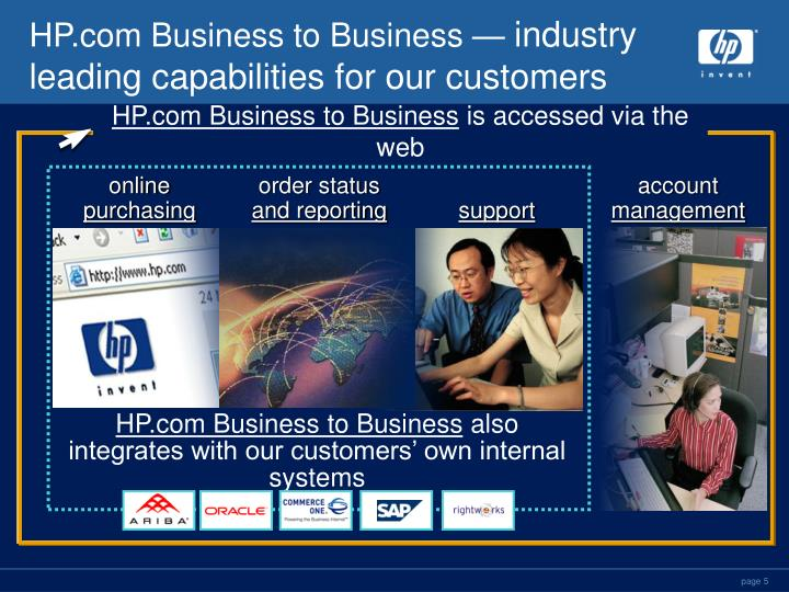 HP.com Business to Business —